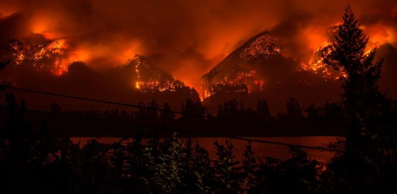 The fire was so intense it leaped across the Columbia River.