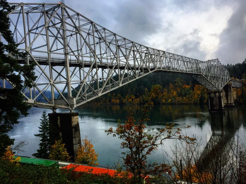 The Bridge of the Gods at Cascade Locks in November 2017