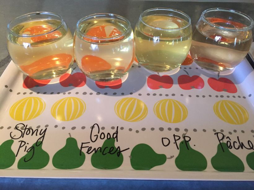 Try a cider tasting.  With names like Stony Pig and Good Fences, what could go wrong?  More than 60 varieties of apples are u