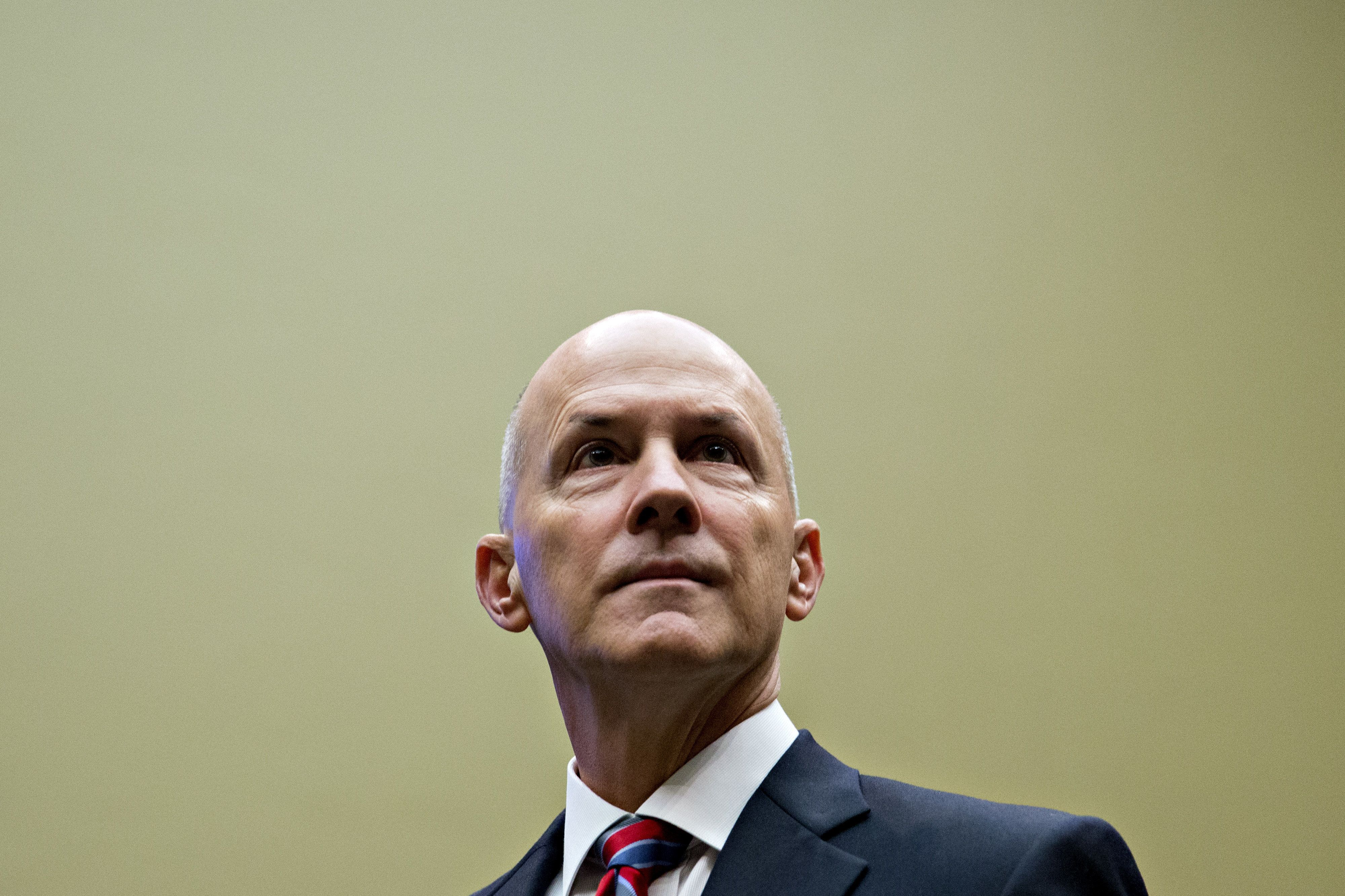 Richard Smith, former chairman and chief executive officer of Equifax Inc., arrives to a House Energy and Commerce Committee hearing in Washington, D.C., U.S., on Tuesday, Oct. 3, 2017. Smith said the credit-reporting company didn't meet its responsibility to protect sensitive consumer information, confirming that the failure to fix a software vulnerability months ago led to the theft of more than 140 million Americans personal data. Photographer: Andrew Harrer/Bloomberg via Getty Images
