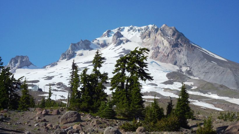 Elusive Mount Hood can look like this, or it can be buried under clouds as it was for four days in November 2017.  But either