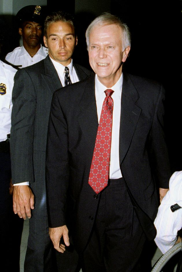 Former Sen. Bob Packwood (R-Ore.) arrives on Capitol Hill ahead of his resignation on Sept. 7, 1995....