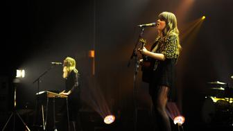 Klara and Johanna Söderberg of First Aid Kit in concert at the O2 Manchester Apollo in Manchester, UK. Photo: Visionhaus/Gary Prior (Photo by Ben Radford/Corbis via Getty Images)