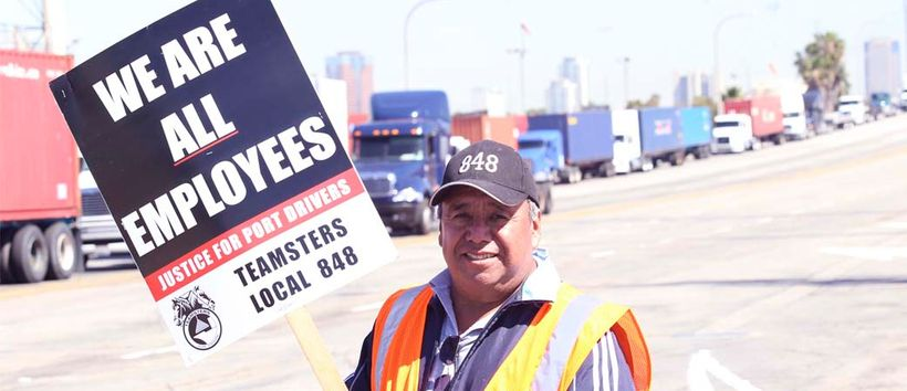 """Photo from the <a rel=""""nofollow"""" href=""""http://justiceforportdrivers.com/"""" target=""""_blank"""">Justice for Port Drivers</a> campai"""