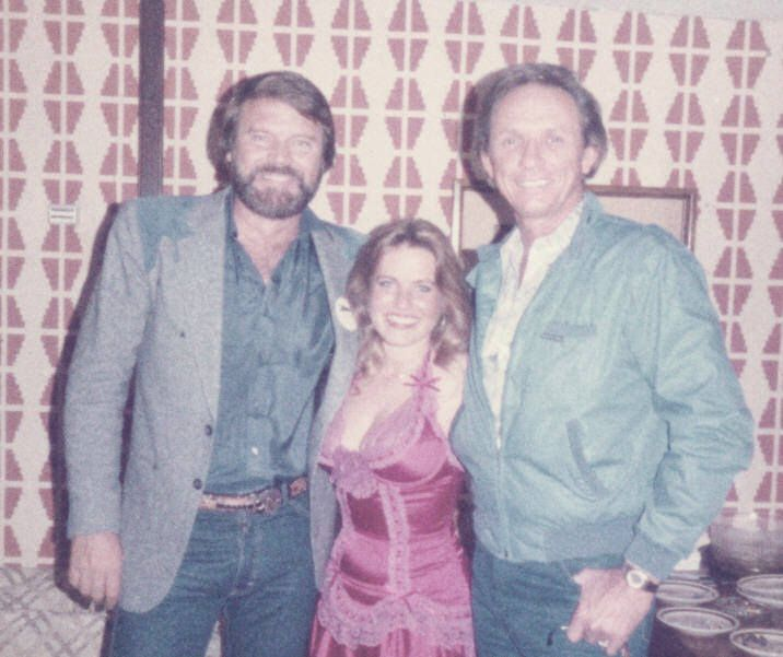 Glen Campbell, Charlotte Laws and Mel Tillis at the Desert Inn in Las Vegas in the 1980s.