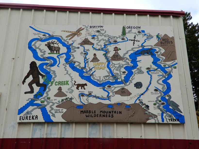 Bigfoot Map in Happy Camp, CA