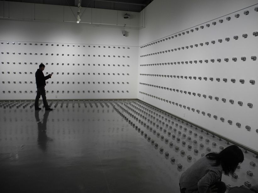 Tatsuo Kawaguchi, <em>Relation–Small Darkness of the 1450 days</em> (2013-2017), (installation detail)