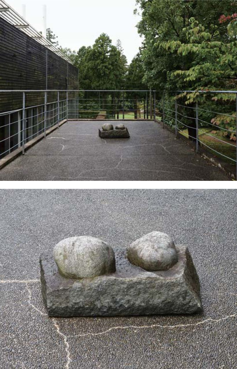 Tatsuo Kawaguchi, <em>Existence–Stone or Stones</em> (1974), (installation veiws), (photos courtesy of Kanaz Forest of Creati