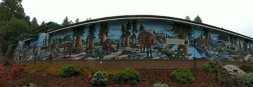 Bigfoot Mural in Willow Creek.