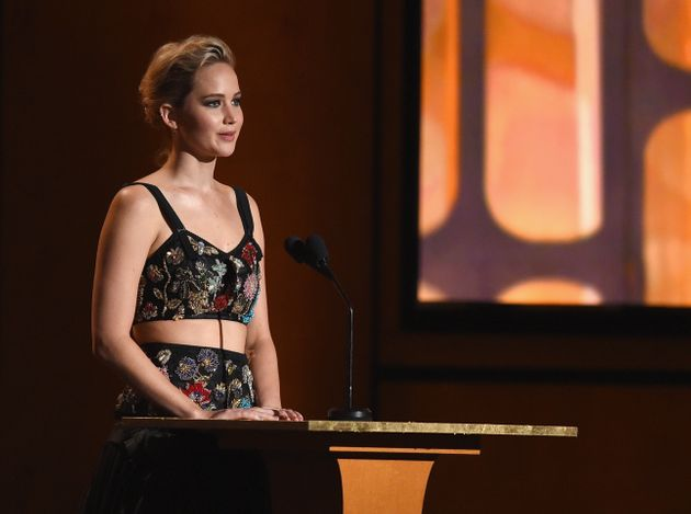 Jennifer Lawrence speaking at the 9th Annual Governors Awards on Nov. 11. She tells The Hollywood Reporter...