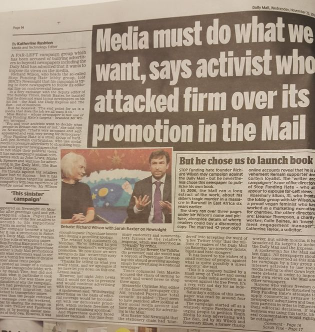 The Daily Mail has hit back at Stop Funding
