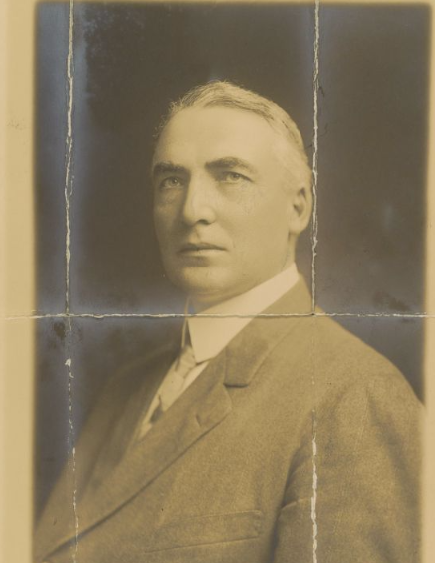 Warren Harding campaign photo from 1910. He wrote a love note on the back of this photo and gave it to Carrie Phillips on Chr