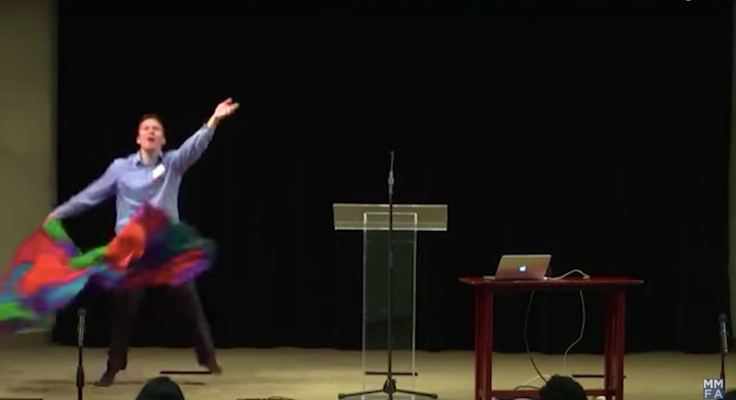 This Anti-Gay Interpretive Flag Dance May Be The Gayest Thing We've Ever