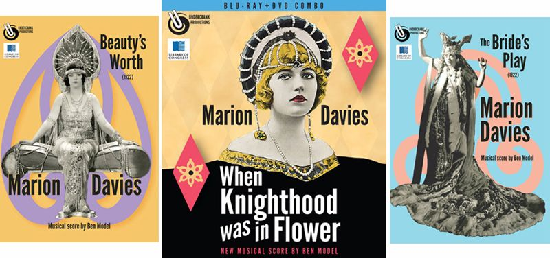 Three Marion Davies films from  Undercrank Productions