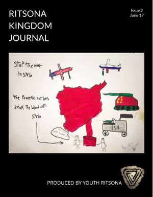 <em>The cover of the 2nd edition of the Ritsona Kingdom Journal </em>