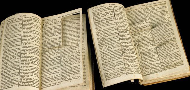 Thomas Jefferson cut and pasted to create his Bible