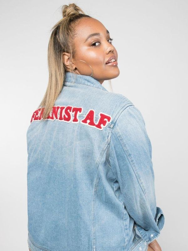 "I have been LUSTING after this denim jacket from plus-size fashion label <a href=""https://premme.us"" target=""_blank"">Premme</"