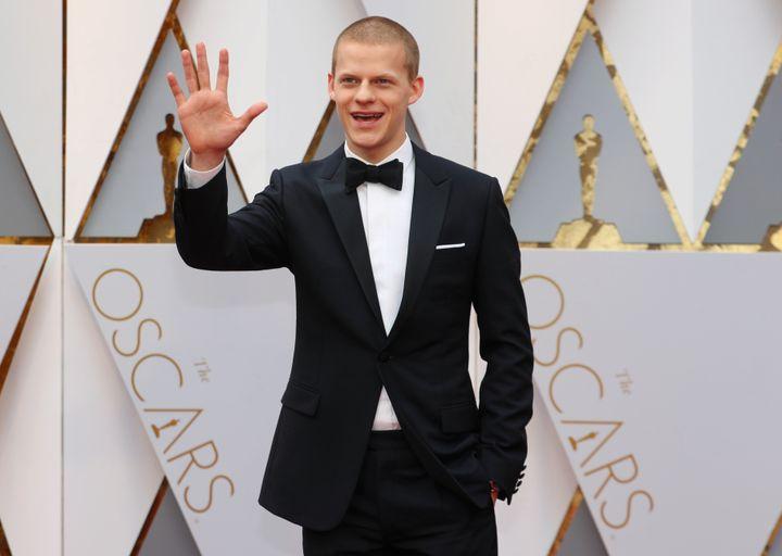 Lucas Hedges arrives at the Oscars on Feb. 26, 2017.
