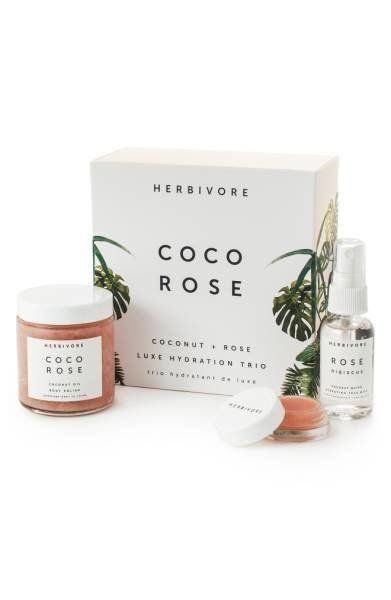 """<a href=""""https://shop.nordstrom.com/s/herbivore-botanicals-coco-rose-luxe-hydration-trio-limited-edition-51-value/4800425?ori"""