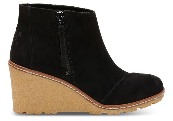 "These <a href=""http://www.toms.com/women/black-microfiber-womens-avery-booties"" target=""_blank"">vegan booties</a> are stylish"