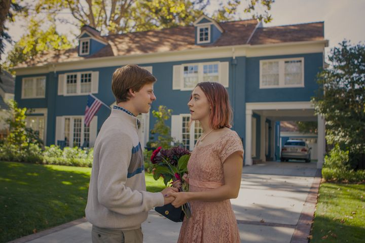 """Lucas Hedges and Saoirse Ronan in """"Lady Bird."""""""