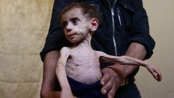 La población asediada de Siria se alimenta de basura para