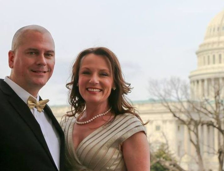 Michael and Stephanie working in DC