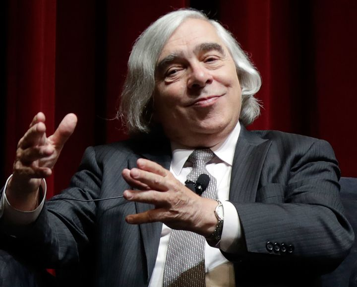 "<em>Former Energy Secretary Ernest Moniz in a ""Fireside Chat"" at the October 13th National Clean Energy Summit in Las Vegas,"