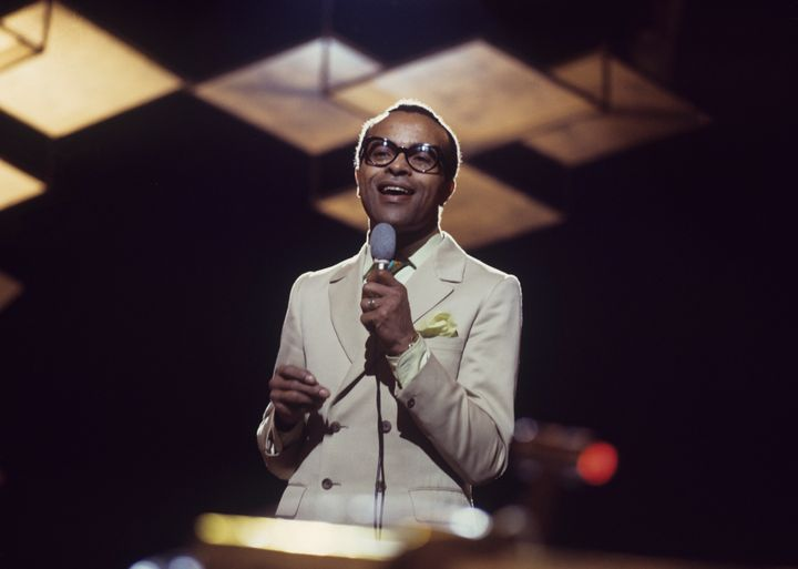 Jon Hendricks performs on stage in an undated photo taken around 1970.