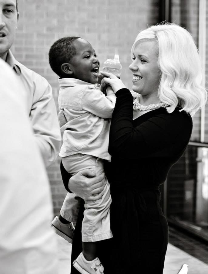 """""""This sweet boy could feel the excitement in the air as his parents were about to finalize his adoption."""" -- Mary Morrow"""