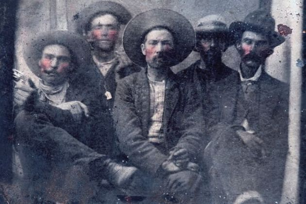 Experts believe Bill the Kid is pictured second from left and Pat Garrett is on the far