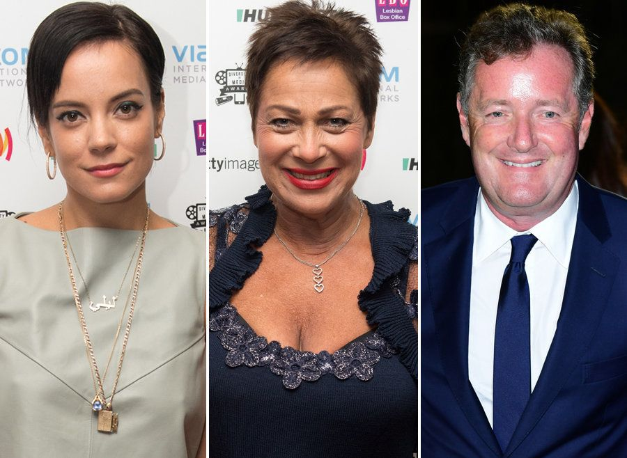 Lily Allen, Denise Welch and Piers