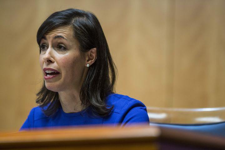 Jessica Rosenworcel speaks during an open meeting in Washington, D.C., last Thursday.