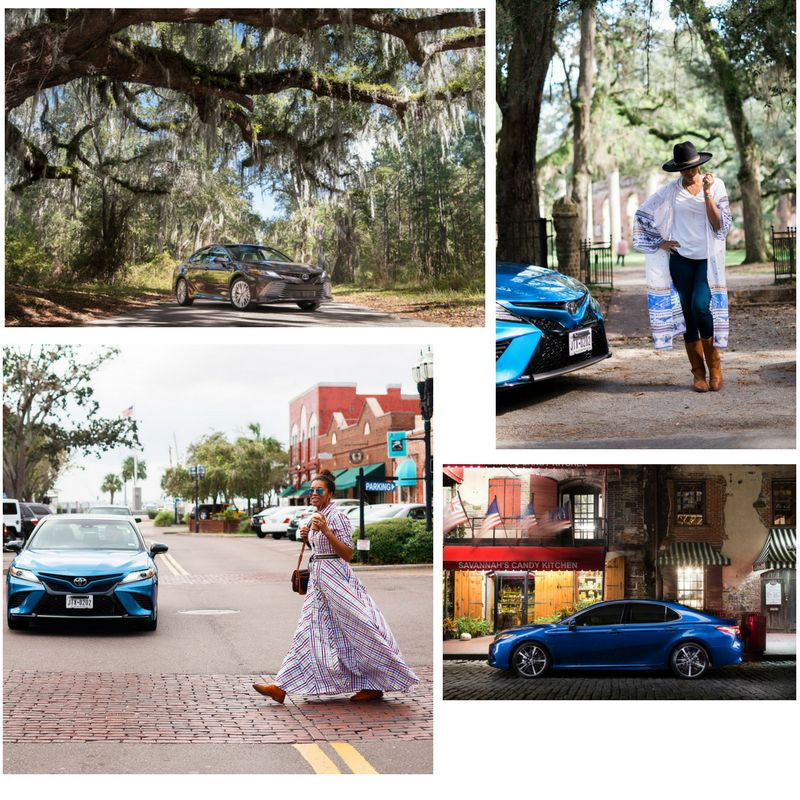 The 2018 Camry & I in Savannah, Ga, Amelia Island, Fl and at the Old Sheldon Church Ruins in Yemassee, SC.