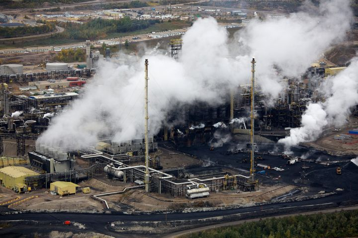 A tar sands operation near Fort McMurray, Alberta, as seen in 2014.