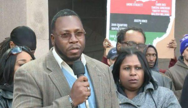 Samaria Rice (Tamir Rice Mother) and Gregg L.Greer, organized Rally in Cleveland.