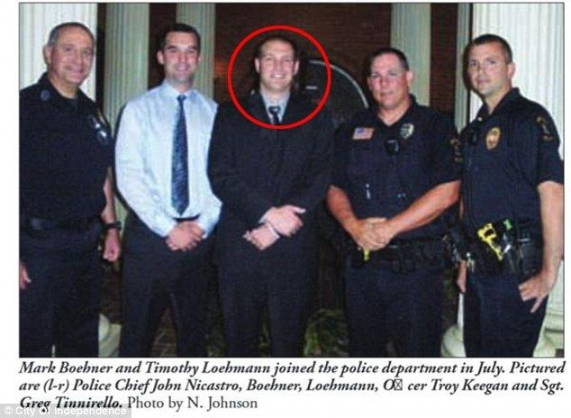 Loehmann, pictured here after joining the police force, was a rookie when he shot Tamir Rice