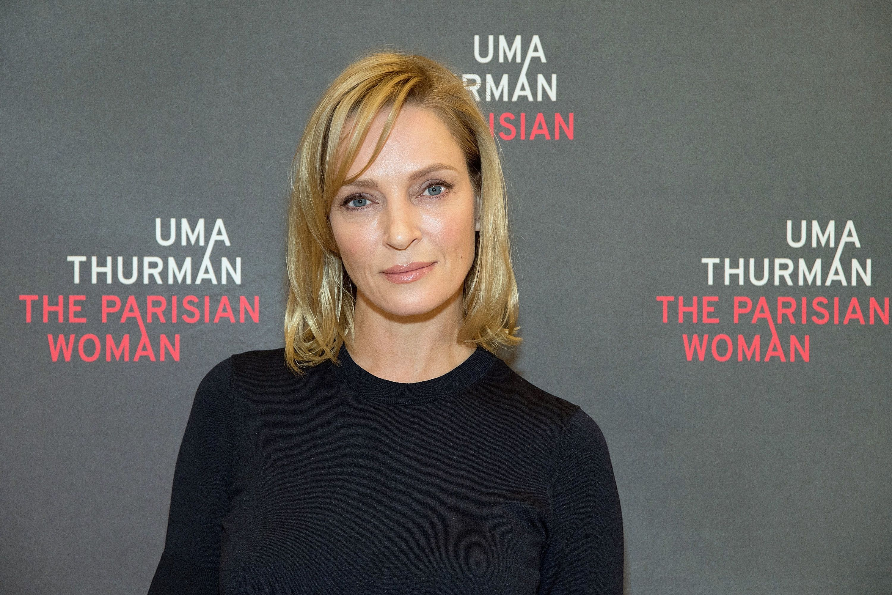NEW YORK, NY - OCTOBER 18:  Actress Uma Thurman attends 'The Parisian Woman' Press Meet & Greet at The New 42nd Street Studios on October 18, 2017 in New York City.  (Photo by Slaven Vlasic/Getty Images)