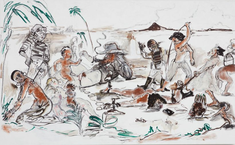 Kara Walker, <em>Slaughter of the Innocents (They Might Be Guilty of Something)</em>, 2017.
