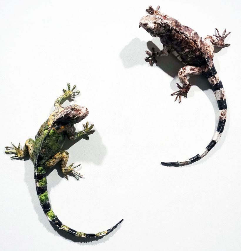 """Will Kurtz, """"Iguanas on a Wall"""""""