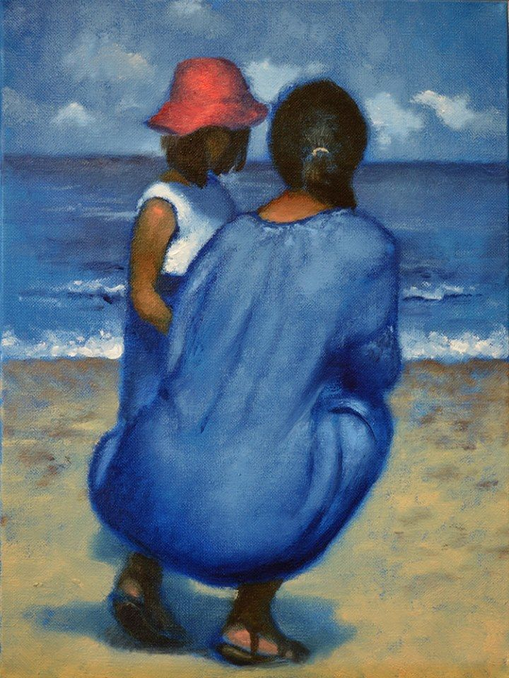 "Daniel Maidman, ""A Mother and Daughter I Saw at the Beach"""