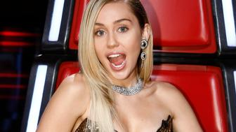 THE VOICE -- 'Live Top 12' Episode 1317A -- Pictured: Miley Cyrus -- (Photo by: Trae Patton/NBC/NBCU Photo Bank via Getty Images)
