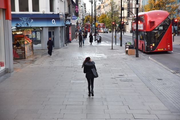 Oxford Street at 8am on Black