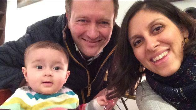 Nazanin Zaghari-Ratcliffe with her husband Richard and daughter