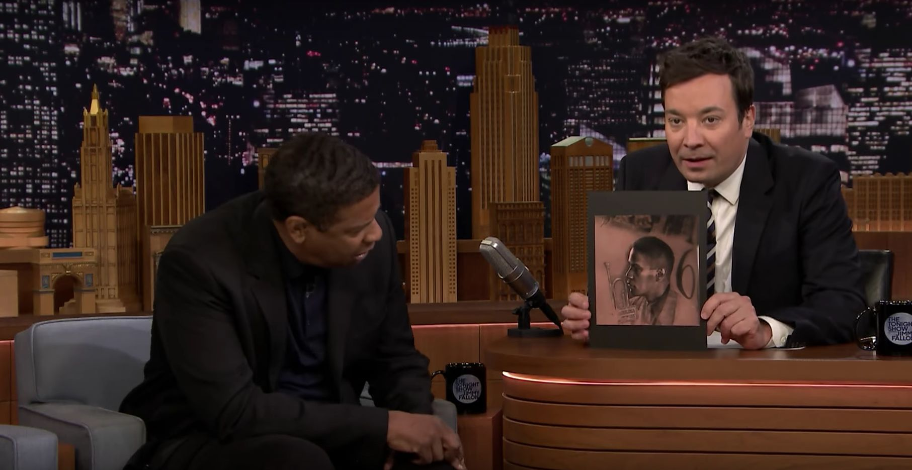 Denzel Washington Has One Big Question After Seeing Drake's Tattoo Of His