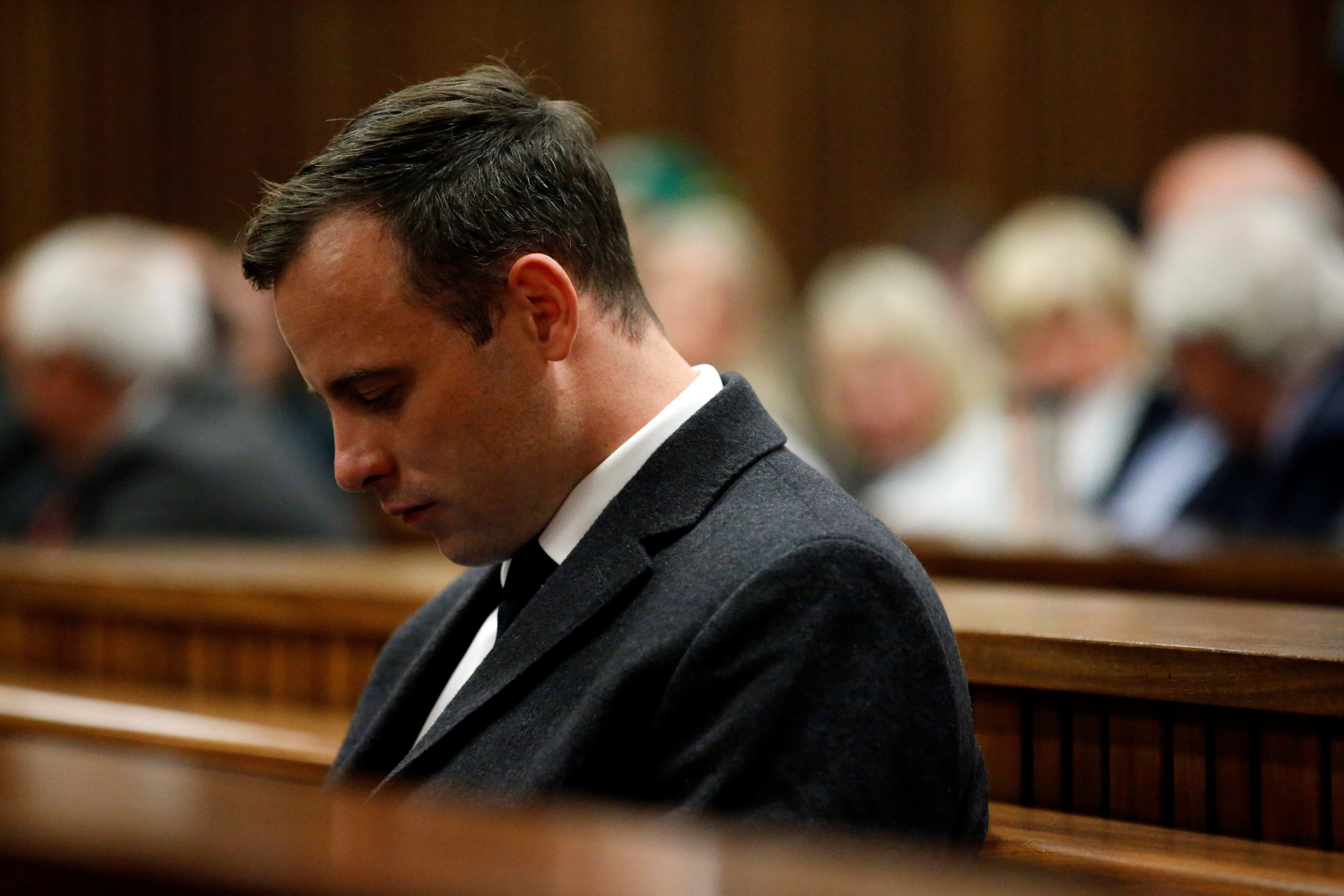 Marco Longari  Anadolu Agency via Getty Images Oscar Pistorius awaits summary judgment in his trial