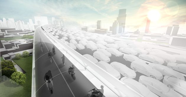 BMW Reveals 'Hyperloop' Style Superhighways For