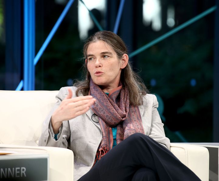Coursera co-founder Daphne Koller speaks at the New York Times Schools For Tomorrow Conference.