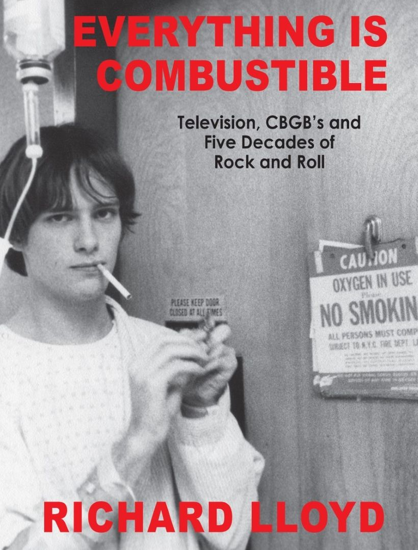 Book jacket cover of 'Everything Is Combustible' by Richard Lloyd.