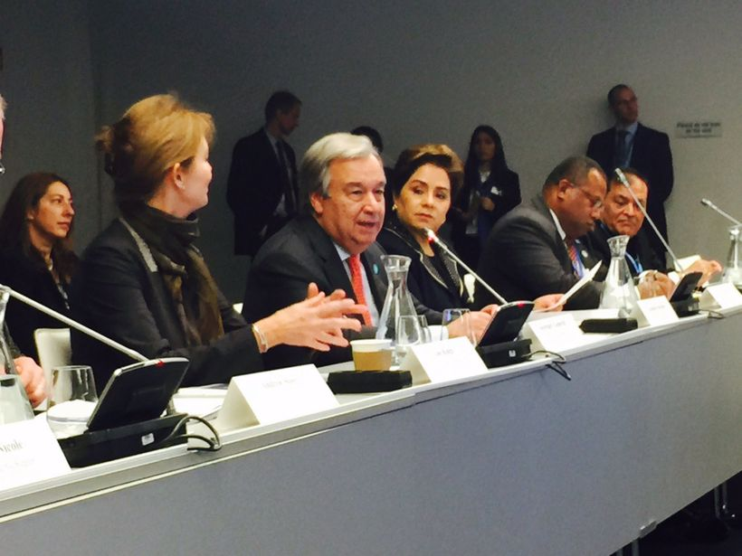 UN Secretary-General António Guterres makes a call to action for business at the High-Level Meeting of Caring for Climate dur